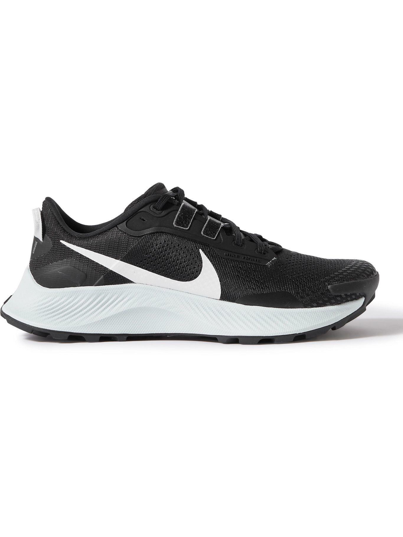 Photo: Nike Running - Pegasus Trail 3 Mesh and Rubber Sneakers - Black