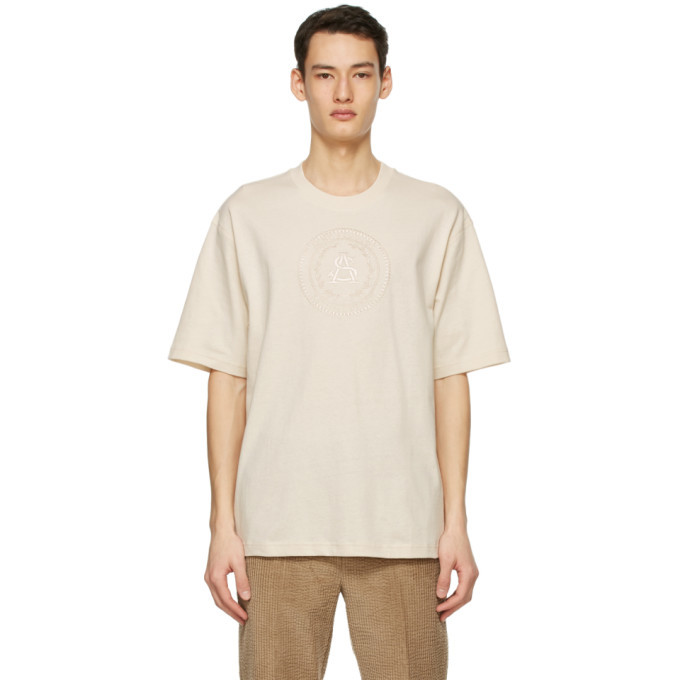 Photo: Acne Studios Beige Embroidered T-Shirt