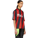Martine Rose Red and Black Twist Football T-Shirt