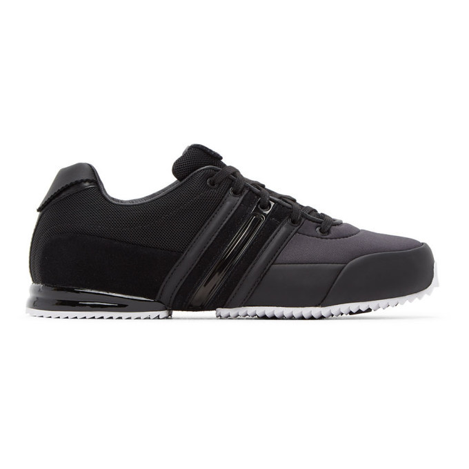 Photo: Y-3 Black and White Sprint Sneakers