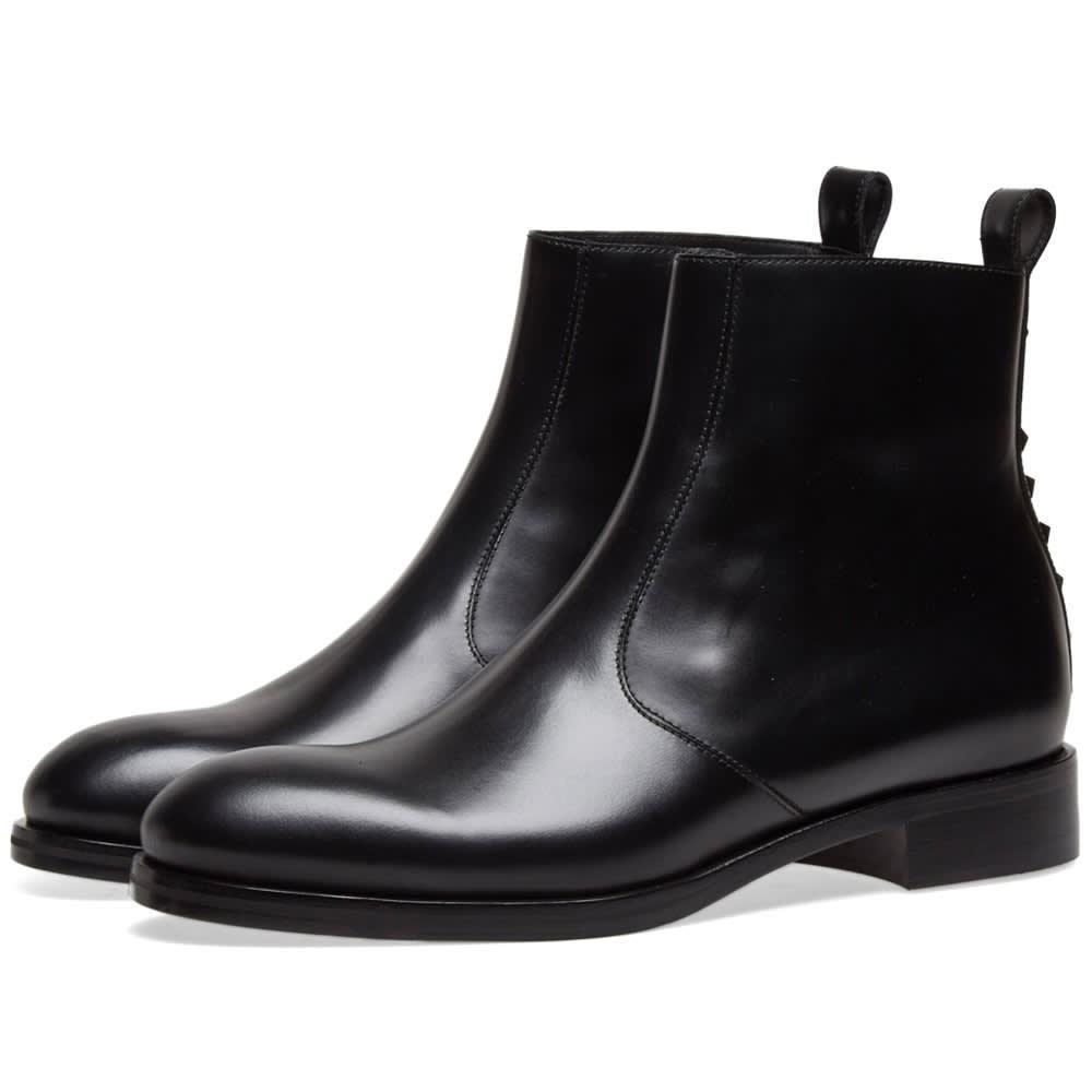 Photo: Valentino Rockstud Heel Zip Chelsea Boot