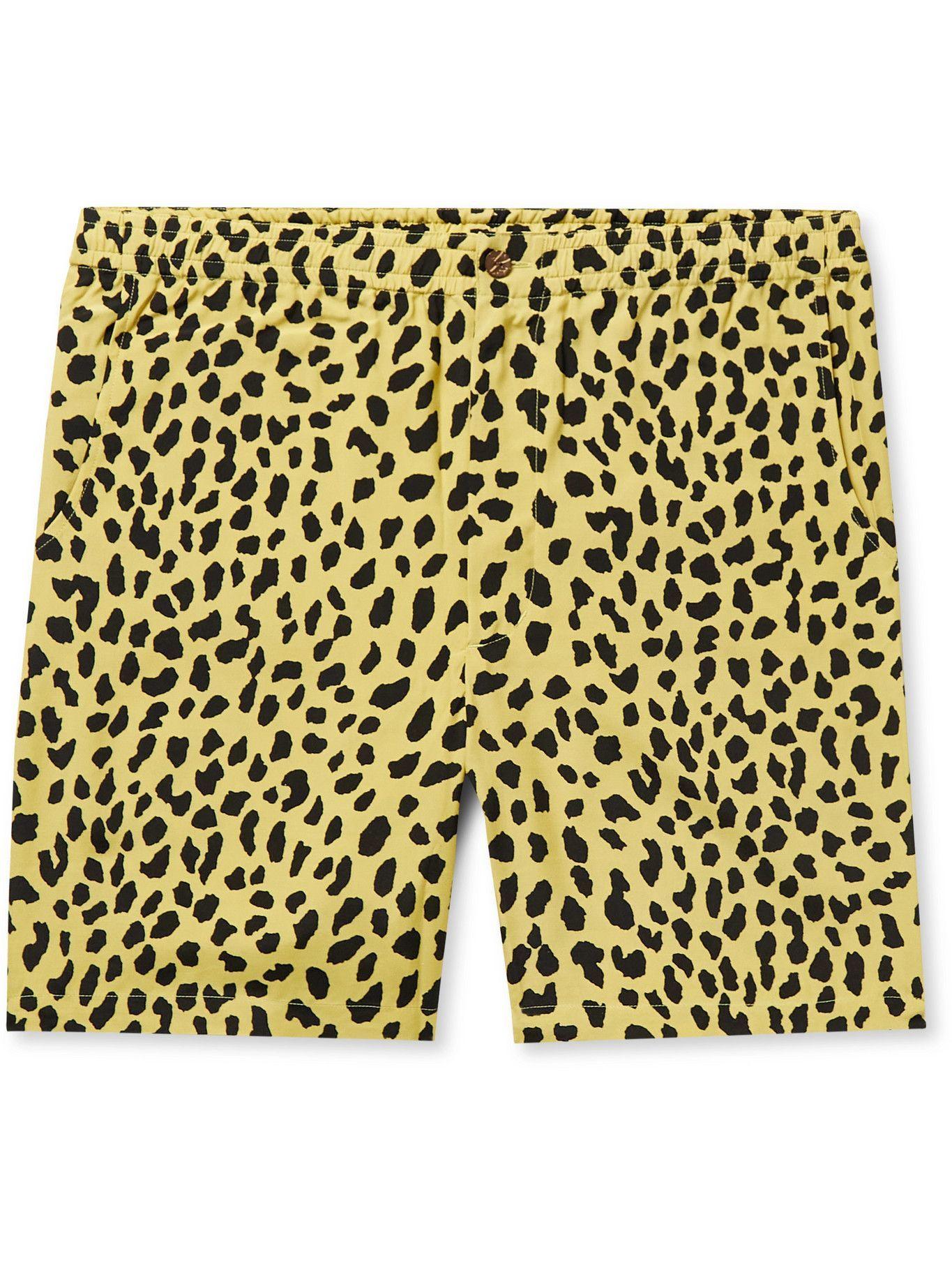 Photo: Wacko Maria - Printed Woven Shorts - Yellow