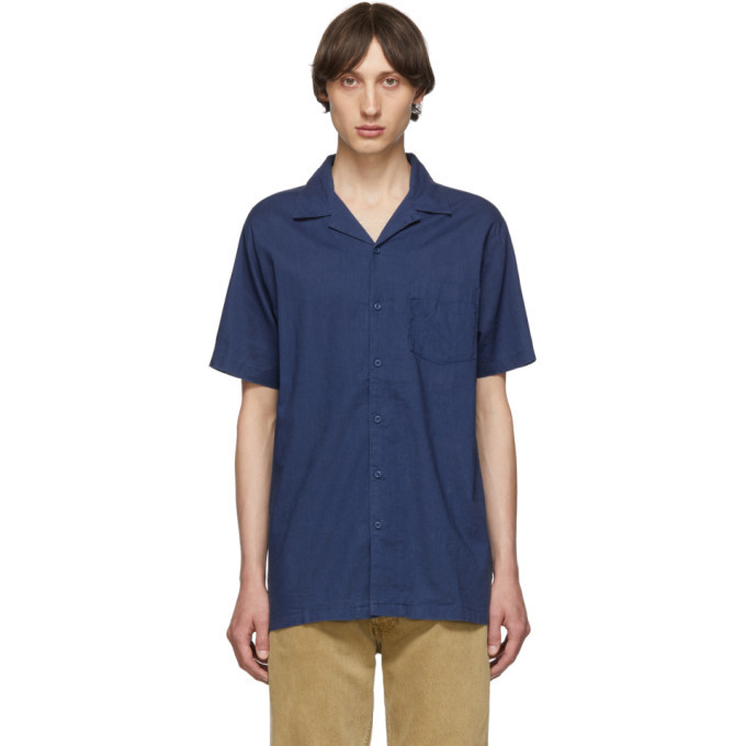 Photo: Onia Blue Linen Vacation Shirt