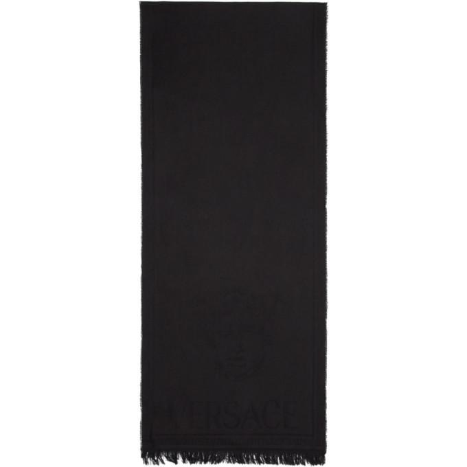 Photo: Versace Black Knit Medusa Scarf