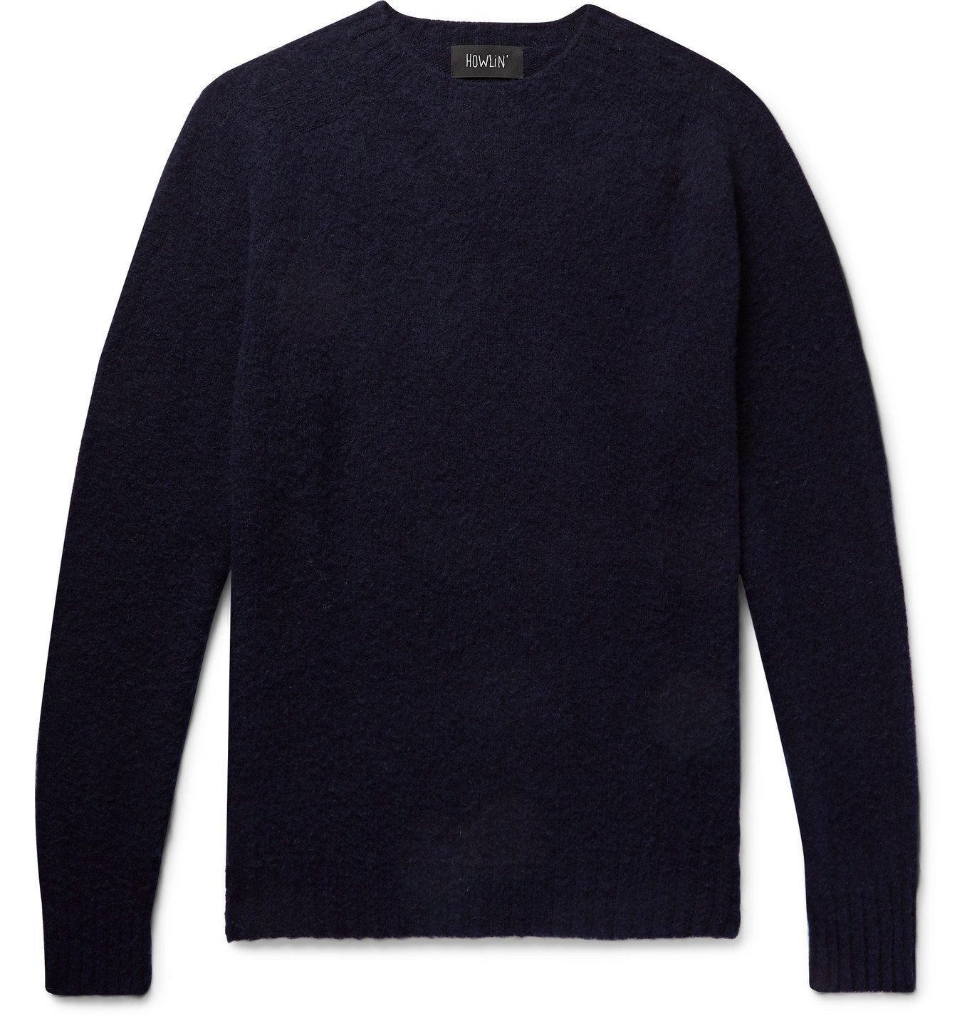 Photo: Howlin' - Birth Of The Cool Brushed Virgin Wool Sweater - Blue