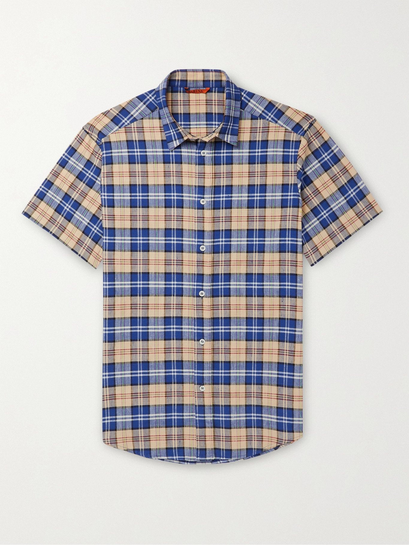 Photo: BARENA - Checked Linen-Blend Shirt - Multi