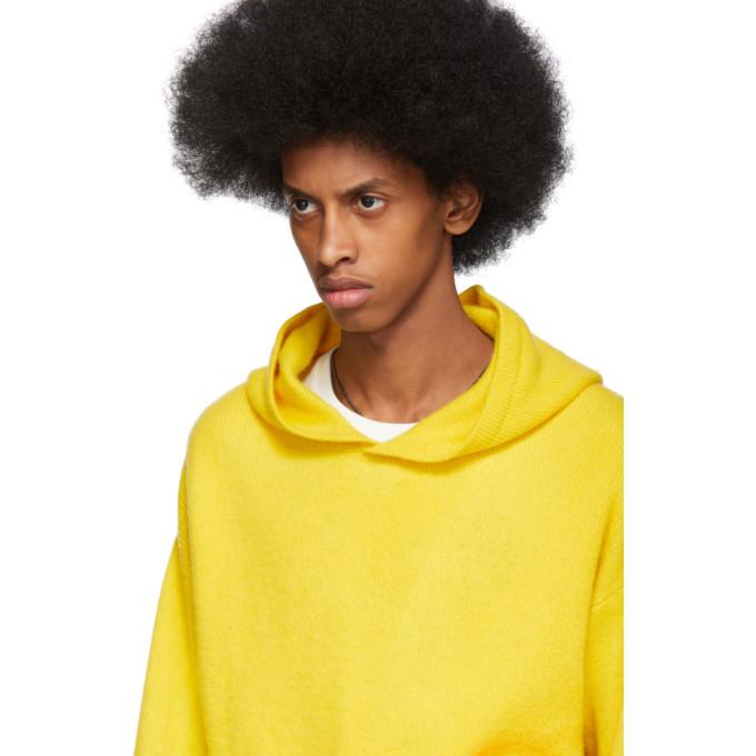 The Elder Statesman Yellow Heavy Hoodie