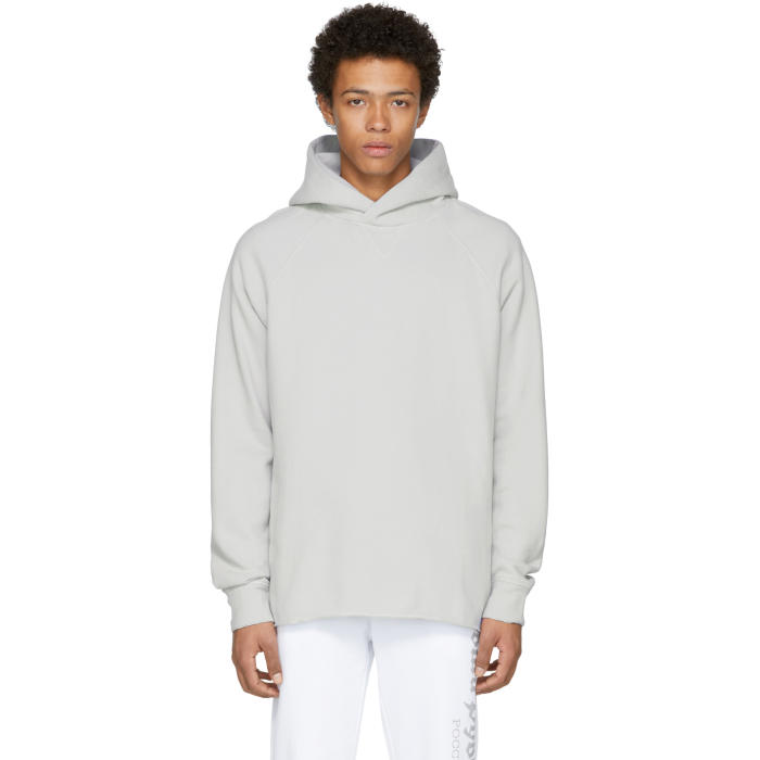 86309db118 Levis Made and Crafted Grey Unhemmed Hoodie Levis Made and Crafted