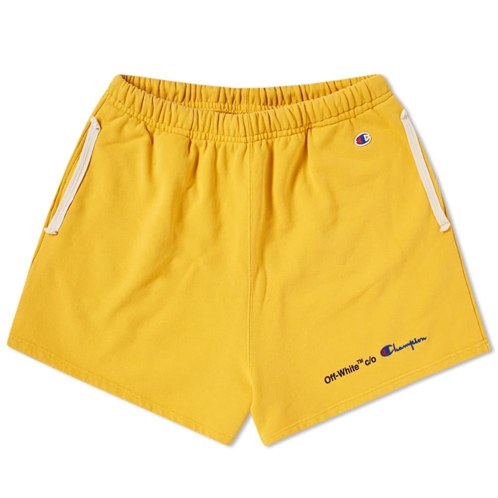 Photo: Off-White x Champion Short Yellow