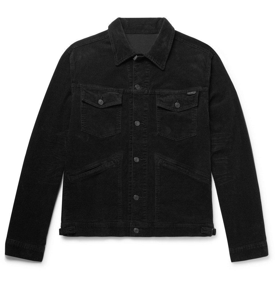Photo: TOM FORD - Washed Cotton-Blend Corduroy Trucker Jacket - Black