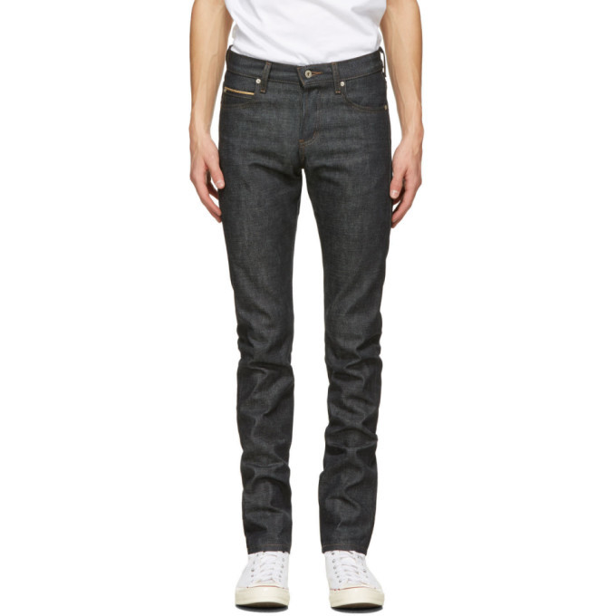 Photo: Naked and Famous Denim Indigo Chinese New Year Gold Ox Super Guy Jeans