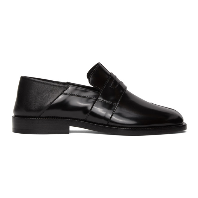 Photo: Maison Margiela Black Tabi Crush Heel Loafers