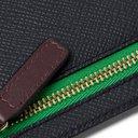 Smythson - Ludlow Cross-Grain Leather Currency Case - Blue