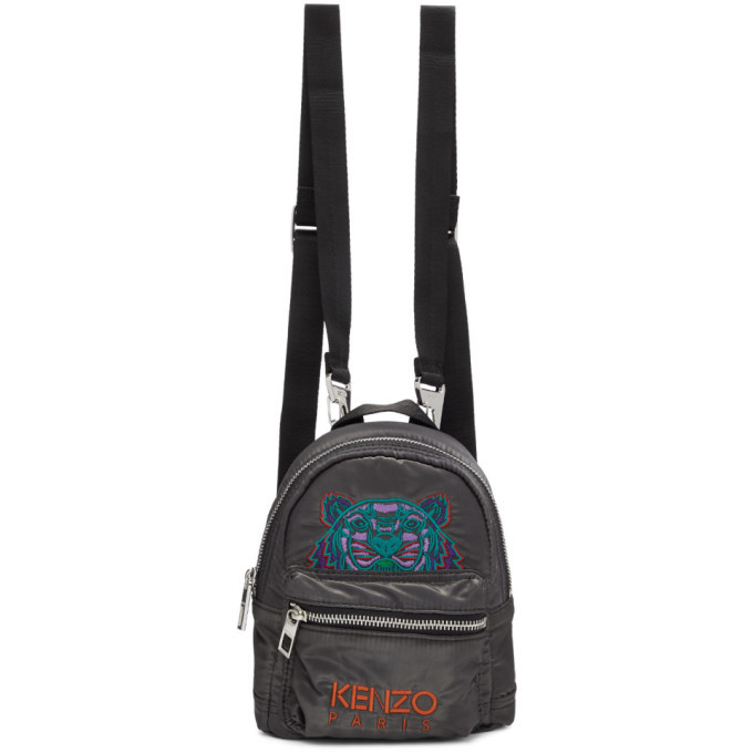 Photo: Kenzo Grey Limited Edition Holiday Mini Kampus Tiger Backpack
