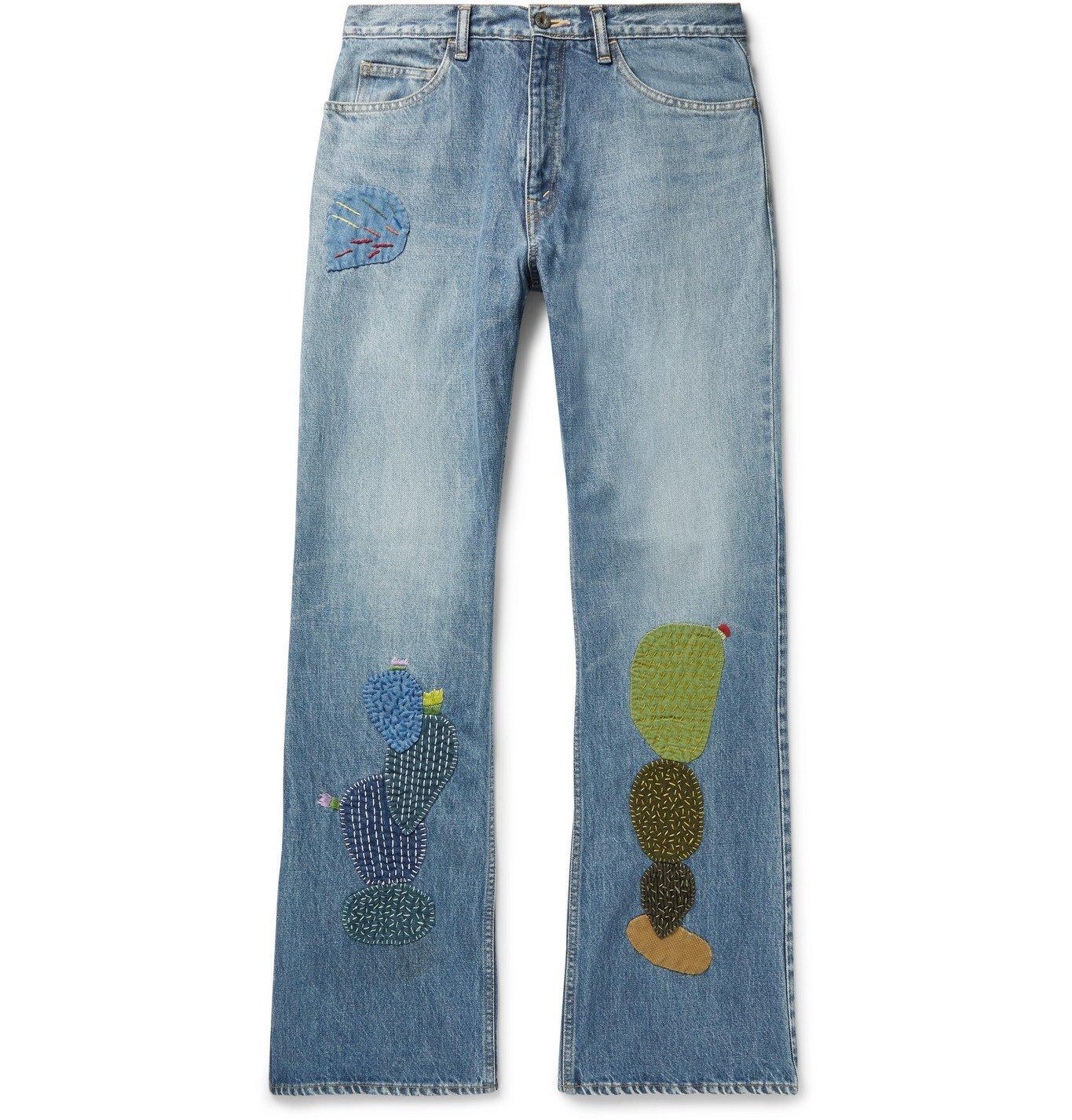 Photo: KAPITAL - Embroidered Appliquéd Denim Jeans - Blue