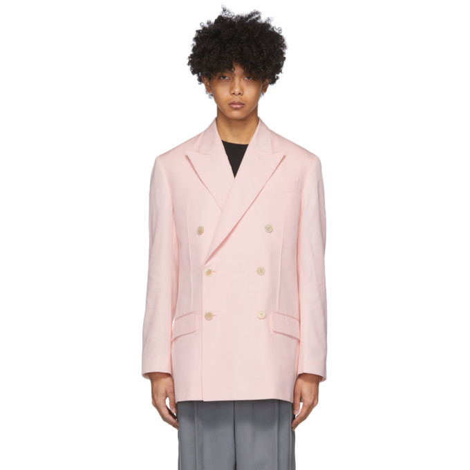 Photo: Givenchy Pink Double-Breasted Oversized Blazer
