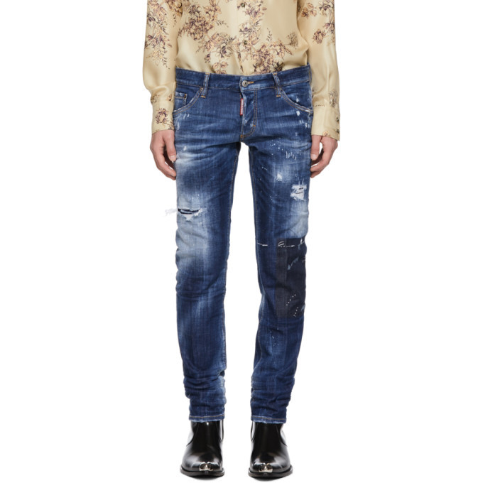 Photo: Dsquared2 Blue Regular Clement Jeans