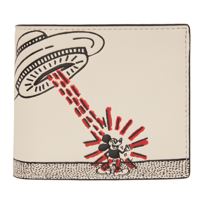 Photo: Coach 1941 White Keith Haring Edition Mickey UFO Double Billfold Wallet