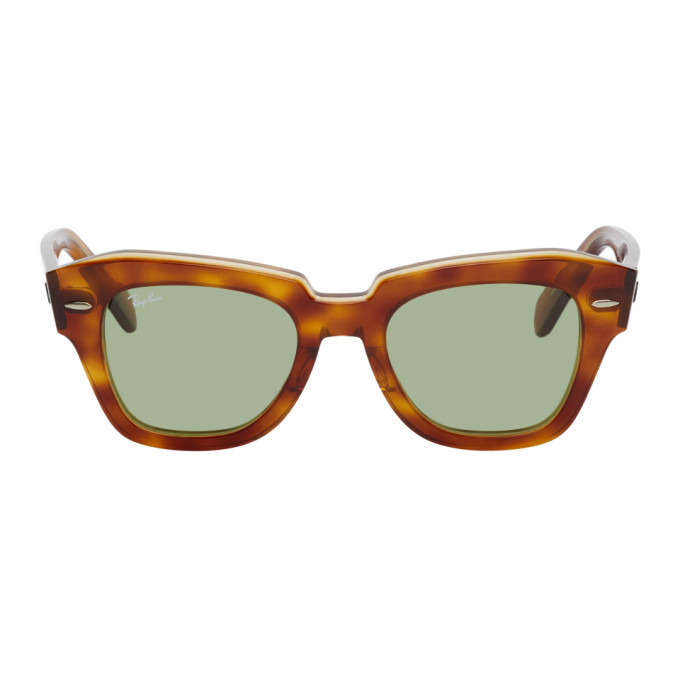 Photo: Ray-Ban Brown and Green State Street Sunglasses