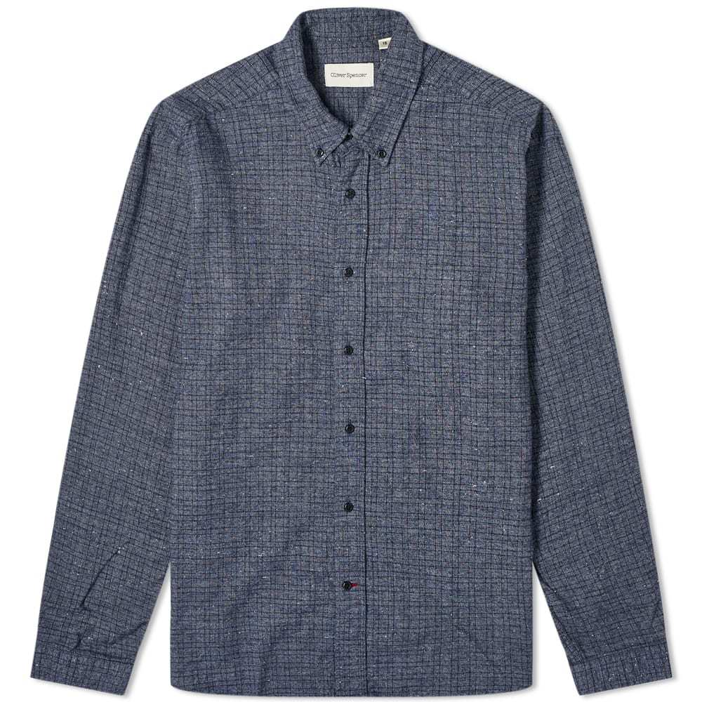 Photo: Oliver Spencer Brook Micro Check Button Down Shirt