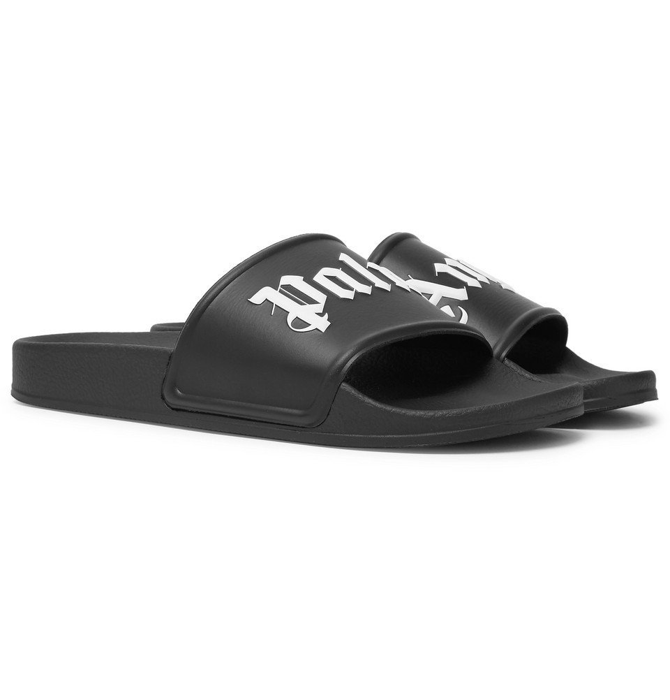 Photo: Palm Angels - Logo-Print Rubber Slides - Men - Black