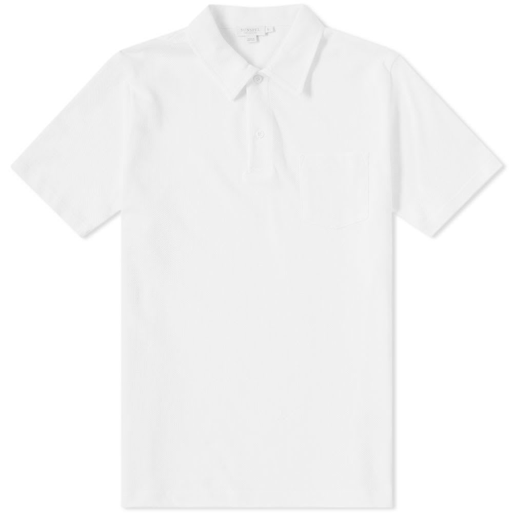 Sunspel Riviera Polo White