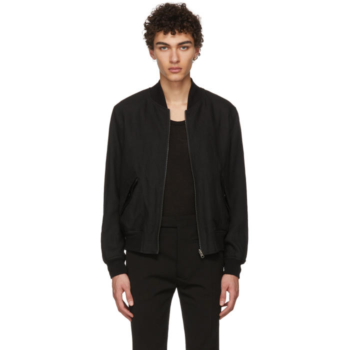 Photo: Ann Demeulemeester Reversible Black Ramson Bomber Jacket