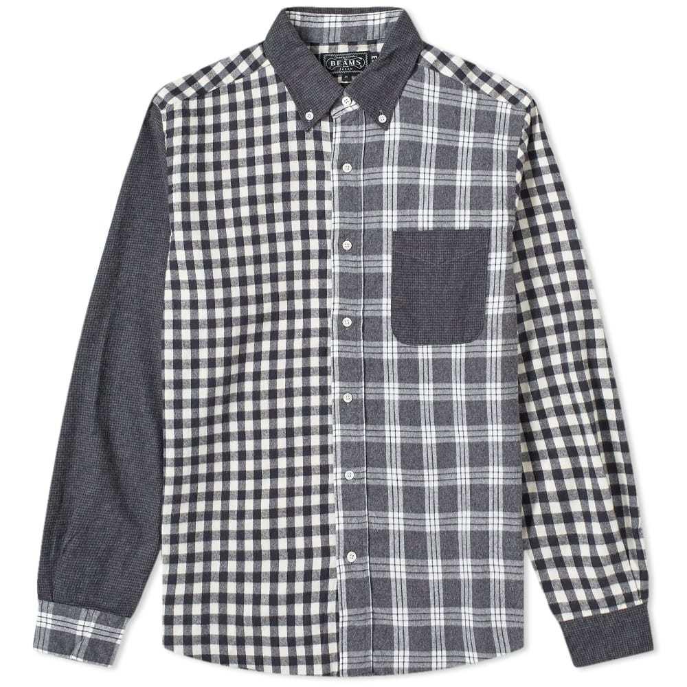 Photo: END. x Beams Plus Button Down Panel Pattern Flannel Shirt