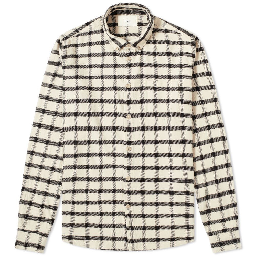 Photo: Folk Relaxed Fit Button Down Check Shirt