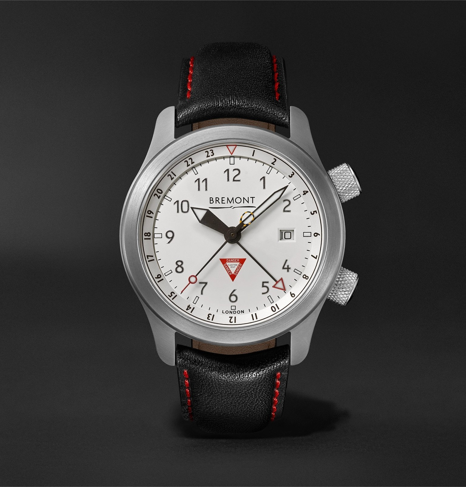 Photo: Bremont - MBIII GMT 10th Anniversary Limited Edition Automatic Chronometer 43mm Stainless Steel and Leather Watch - White