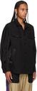 Sacai Black Oxford & Twill Shirt