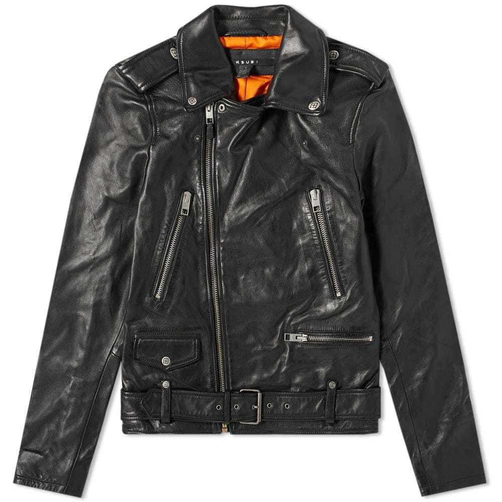 Photo: Ksubi Loathing Leather Biker Jacket Black
