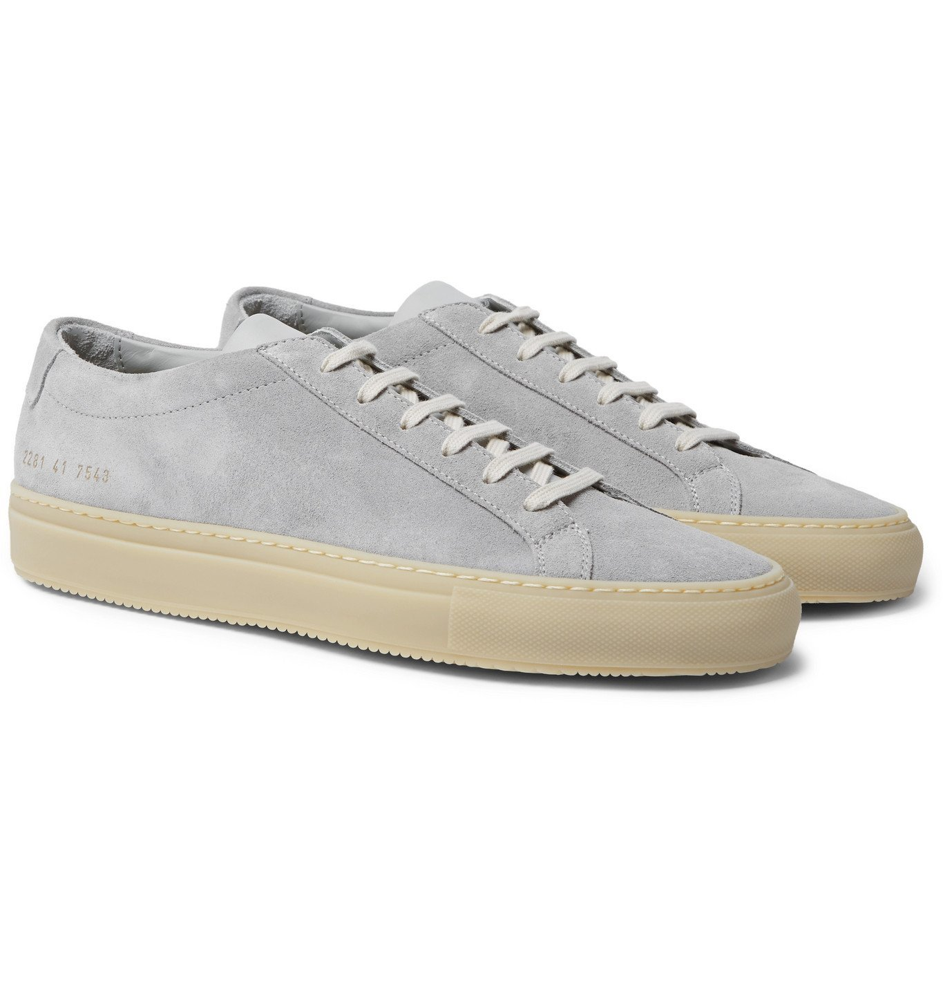 Common Projects - Achilles Suede and Leather Sneakers - Gray