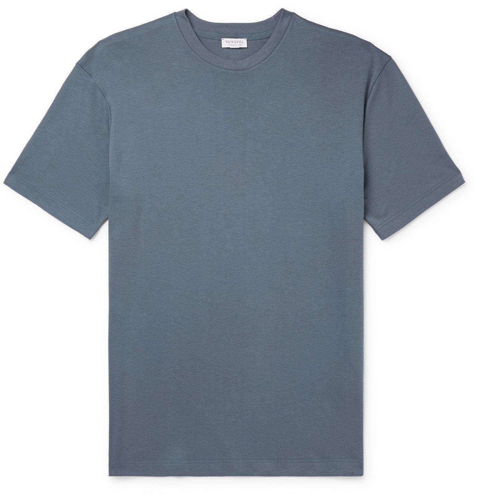 Sunspel - Cavendish Cotton-Jersey T-Shirt - Blue