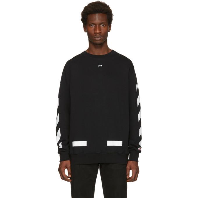Photo: Off-White Black Diagonal Arrows Crewneck Sweatshirt