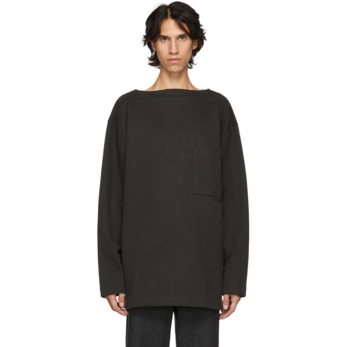 Photo: Lemaire Grey Organic Mariniere Sweatshirt