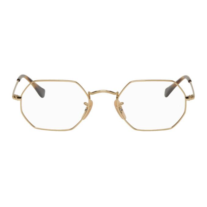 Photo: Ray-Ban Gold Hexagonal Icon Glasses