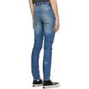 Ksubi Blue Painted Chitch Jeans
