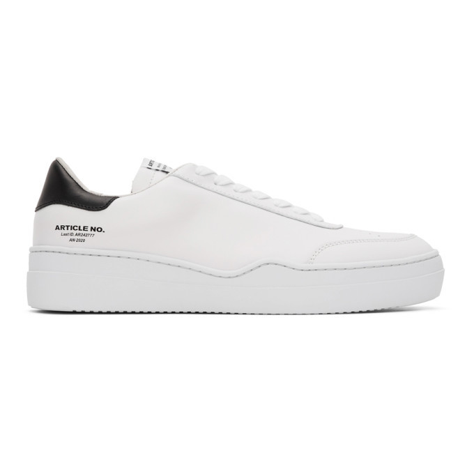 Photo: Article No. SSENSE Exclusive White and Black 0517-04-03 Sneakers
