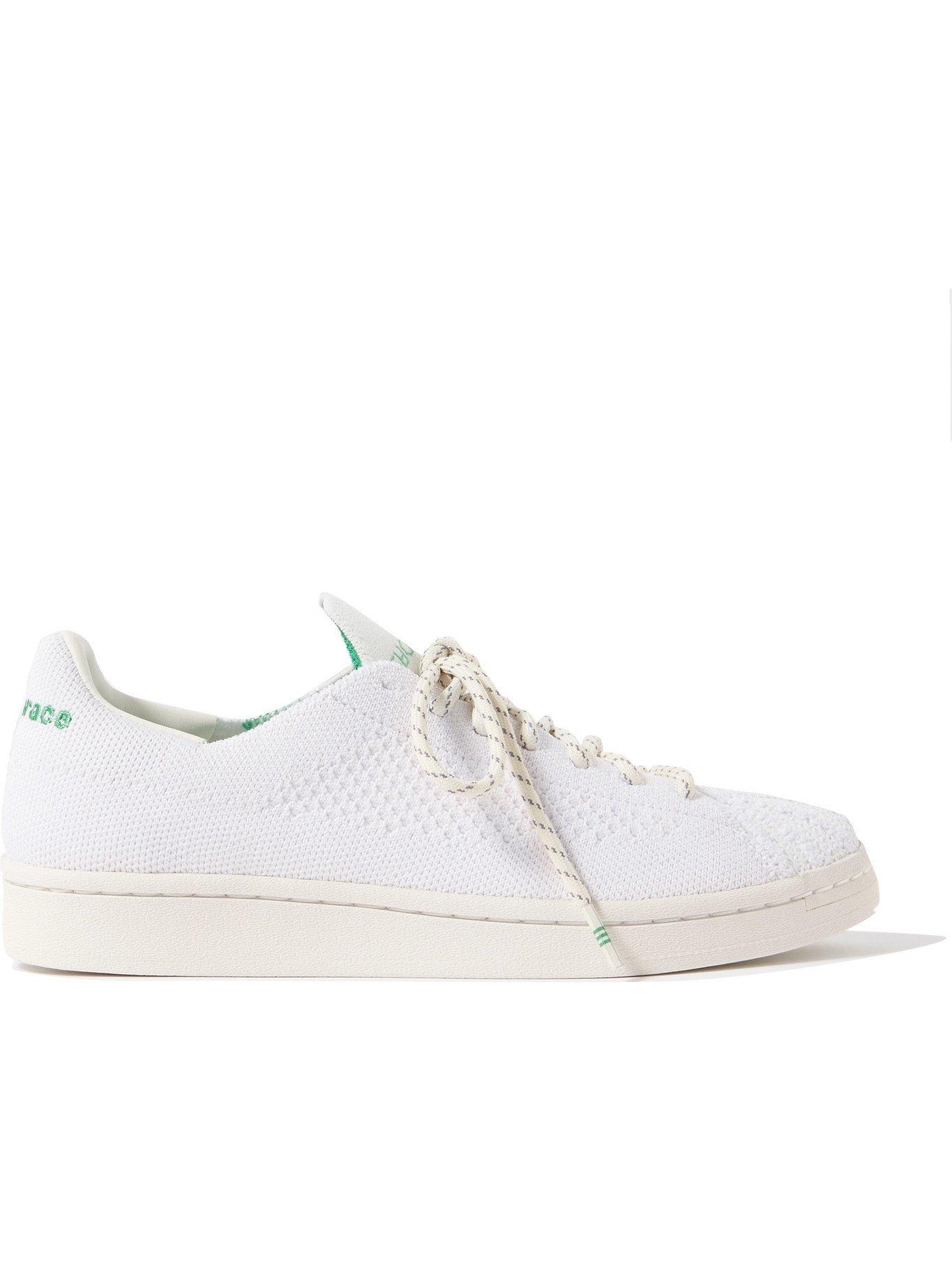 Photo: ADIDAS ORIGINALS - Pharrell Williams Superstar Primeknit Sneakers - White - UK 4.5