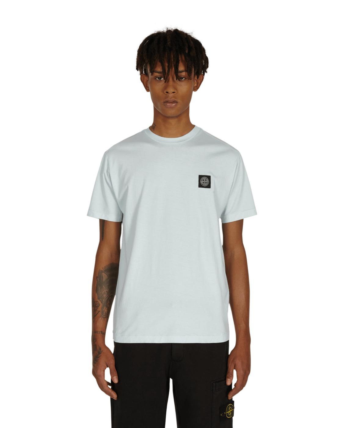 Stone Island Box Logo T Shirt Light Blue