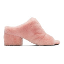3.1 Phillip Lim Pink Shearling Cube Mules
