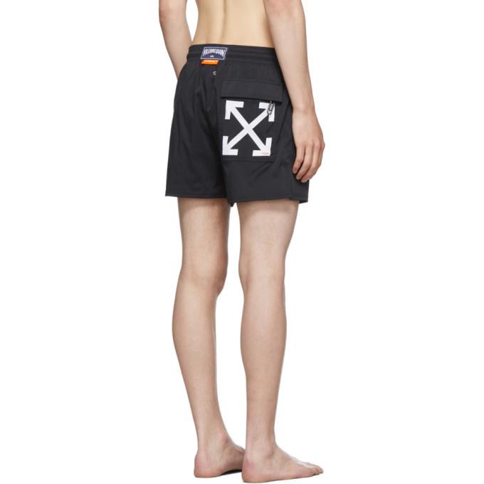 Off-White Black Vilebrequin Edition Arrows Moorise Swim Shorts