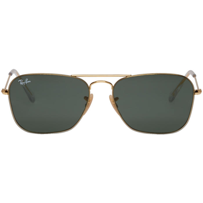 Photo: Ray-Ban Gold RB3603 Sunglasses