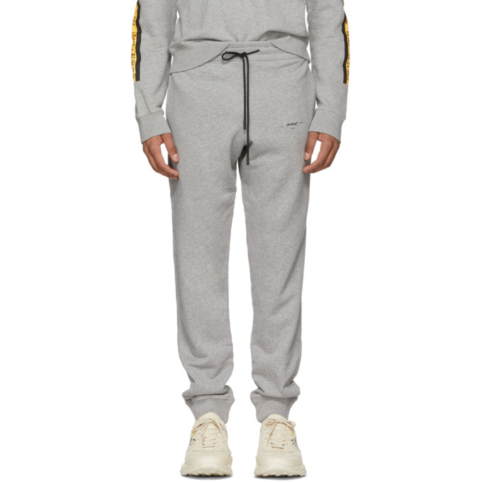 Photo: Off-White Grey Arrows Sweatpants