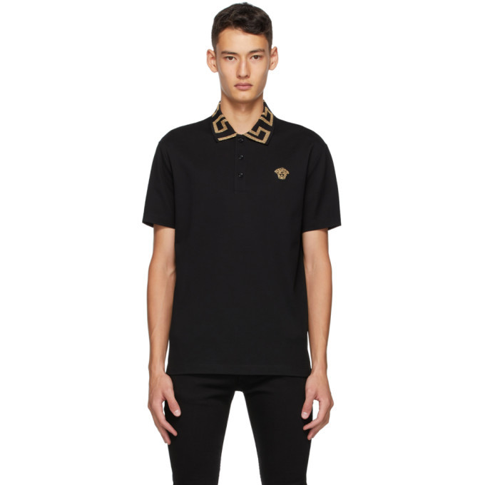 Photo: Versace Black Medusa Logo Polo