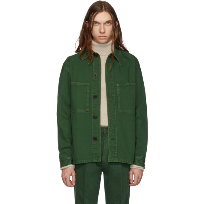 Photo: Lemaire Green Denim Overshirt Jacket