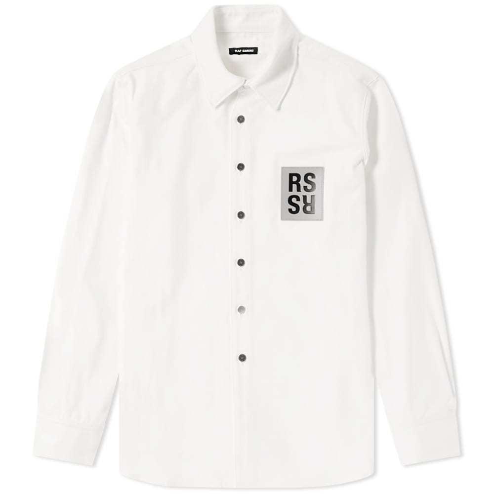 Raf Simons Patch Denim Shirt White