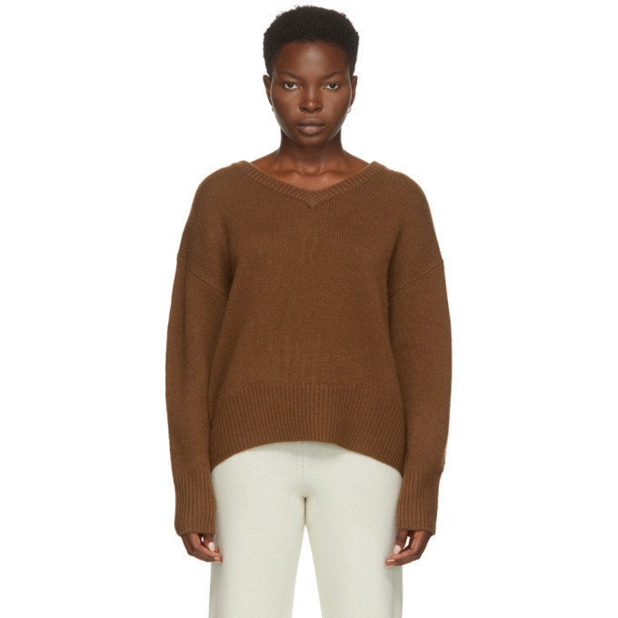 Photo: arch4 Brown Cashmere Battersea V-Neck Sweater