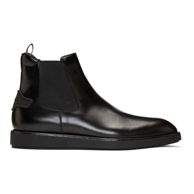Photo: Prada Black Leather Chelsea Boots